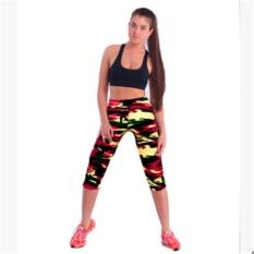 LALANG Wanita Latihan Legging Olahraga Fitness Stretch Cropped Pants (23 #)-Intl