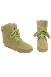 Beli Lalang Wanita Datar Tumit Renda Up Knight Boots Martin Sepatu Kasual Hijau Cicil