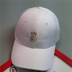 Topi Wanita Pendatang Baru Bordir Sederhana Beberapa Topi Bisbol (putih) LALANG - Internasional