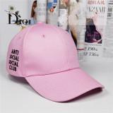 Topi Wanita Pendatang Baru Huruf Pasangan Motif Topi Bisbol Berwarna Merah Muda Lalang Internasional Asli