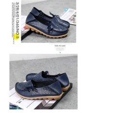 Jual Lalang Wanita Pantofel Wanita Slip Pada Sepatu Datar Biru Intl