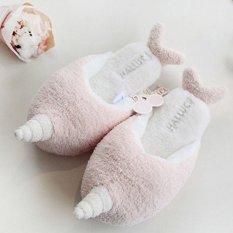 Toko Lalang Women Narwhal Soft Warm Cotton Slippers Pink Intl Murah Di Tiongkok