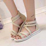 Spesifikasi Lalang Women Summer Flat Sandals Bind Covered Shoes Beige Intl Merk Lalang