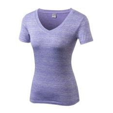 Review Lanbaosi Kompresi Tights Women S T Shirt Kering Cepat Pendek Lengan Kebugaran Pakaian Tees Purple Intl Di Tiongkok