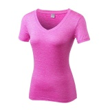 Review Lanbaosi Kompresi Tights Women S T Shirt Kering Cepat Pendek Lengan Kebugaran Pakaian Tees Naik Merah Internasional Di Tiongkok