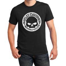 JersiClothing T-Shirt Harley Davidson Skull - Hitam