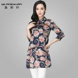 Perbandingan Harga Lang Yi Xuan Musim Semi Dan Musim Gugur Baru Wanita Ukuran Besar Longgar T Shirt Kostum Biru Baju Wanita Baju Atasan Kemeja Wanita Oem Di Tiongkok