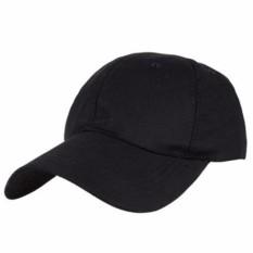 Lanjar Jaya Topi baseball  topi basic twill pria / wanita warna hitam polos