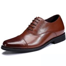 Lapisan pertama kulit sapi sepatu pantopel Sepatu Golden Goose 8cm tiga konektor cara buat Sepatu Kulit Kualitas Unggul tiga konektor Kulit asli Sepatu Kulit pria