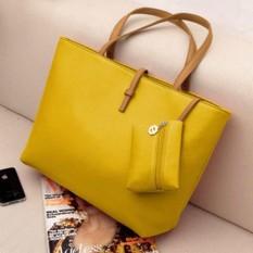 Spesifikasi Besar Pu Tas Kulit Wanita Besar Tote Shopper Shoulder Top Handle Bags Intl Paling Bagus