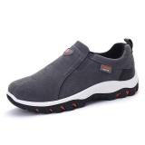 Beli Ukuran Besar Pria Pantofel Fashion Slip On Bernapas Kasual Sepatu Grey Intl Murah