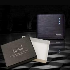 Jual Laris Dompet Box Impor Fashion Bogesi 6R724 Style Elegan Pria Wanita Cowo Hitam Rendah Lengkap