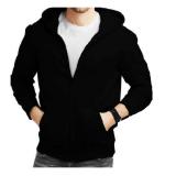 Toko Larisashop Surabaya Jaket Sweater Hoodie Hitam Polos Zipper Online Di Di Yogyakarta
