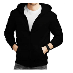 Beli Larisashop Surabaya Jaket Sweater Hoodie Hitam Polos Zipper Cicilan