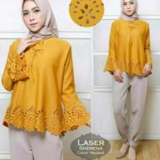 Laser Sherena Lillo Mustard , Atasan Baju Muslim - PF