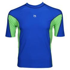 Lasona Baju Atasan Renang Pria BM-A3156-L4 Blue Yellow-Green