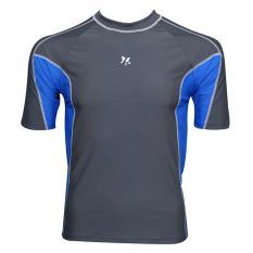 Lasona Baju Atasan Renang Pria BM-A3156-L4 Dim grey Medium Blue