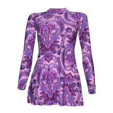 Lasona Baju Renang Rok Wanita Tangan Panjang Size Besar SWJ-C1578-L01954X Pink