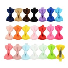 Latest 20 Pcs/lot Small Bowknot Hairgrips Mini Sweet Lively Solid Ribbow Bow Safety Hair Clips Kids Hairpins 659