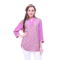 Berapa Harga Latusca Atasan Blouse Batik Wanita Kasandra Pink Magenta Di Jawa Tengah