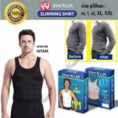 Laz COD - Slim N Lift Body Shaping for Men [HITAM] / Baju Singlet / Baju Pelangsing Pria / Baju Perut Buncit [HITAM]