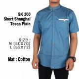 Jual Beli Lazcare Kemeja Pria Casual Kantor Koko Short Sleeve Shanghai Tosqa Plain Indonesia