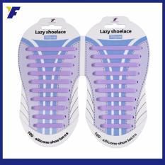 Diskon Besarlazy Shoelace Tali Sepatu Silikon All Free Size 20Pcs Pack Ungu
