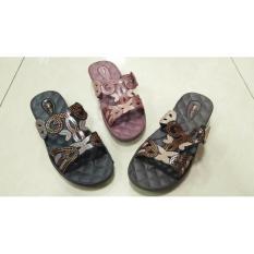 Lbe1517d New Era Sandal Selop Wanita Kilap Permata