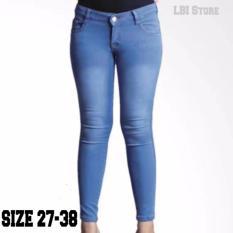 Lbi Store Jeans Celana Wanita Warna Esblue Polos Jeans Wanita Diskon 40