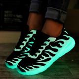 Toko Lcfu764 Pasangan Cahaya Led Renda Up Bercahaya Sepatu Olahraga Sepatu Bercahaya Sepatu Kasual Biru Terlengkap