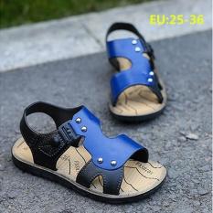 2cf646bf881f3d LCFU764 Fashion Summer Baby Boy Kulit Lembut Bawah Sandal Non-slip Beach  Sepatu BEACH SANDAL