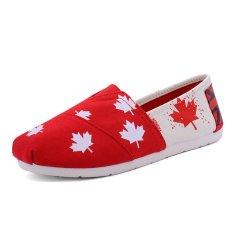 Beli Lcfu764 Flat Kanvas Sepatu Malas Casual Sepatu Pasangan Loafers Nyaman Slip On Shoes 8 Intl Secara Angsuran