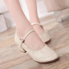 Spesifikasi Lcfu764 Gaya Baru Persahabatan Square Menari Sepatu Beige Yang Bagus