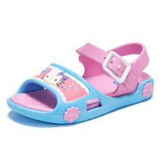 LCFU764 Baru Musim Panas Fashion Anak Perempuan HELLO KITTY Sandal Sepatu Gaun-biru-Intl