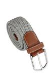 Harga Kulit Dikepang Elastis Peregangan Sabuk Logam Belt Grey Terbaik