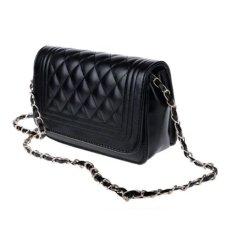 Tas Wanita Import Batam Branded Terbaru Kulit Selempang Leather Shoulder Bag - Hitam