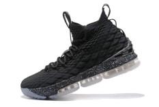LeBron XV LeBron James Cavaliers Resmi LeBron Raymone James 15 MID TOP Sepatu Basket NBA FMVP Sepatu (Hitam) -Intl