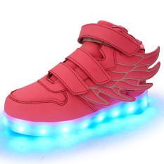 Spesifikasi Lampu Led Dia Sneakers Indah Gadis Boys Look Sayap Anak Lampu Led Cantik Gadis Sneakers Sayap Tempat Tidur Anak Buah Sepatu Berwarna Merah Muda Yang Bagus Dan Murah