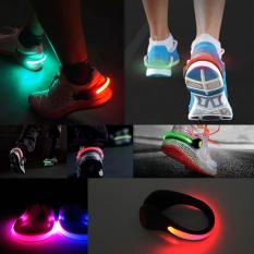 Ulasan Lengkap Tentang Memimpin Bercahaya Lampu Klip Sepatu Malam Peringatan Keselamatan Hitam Hijau Terang Int Satu Ukuran Intl