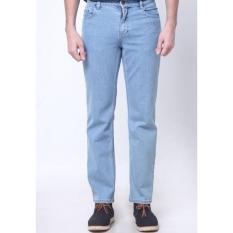 Lee Cooper Jeans Pria Regular Fit Light Indigo LC 110 light stone