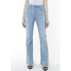 Lee Cooper Jeans Wanita Flare Fit Mid Indigo Donna
