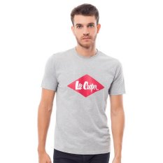 Lee Cooper Kaos Pria Regular Fit Misty Grey Dan Logo