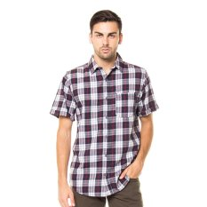 Lee Cooper Kemeja Pria Regular Fit White Check Gabriel