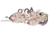 Harga Leegoal Fashion Lucu Kristal Berlian Imitasi Shiny Batu Opal Elegan Wanita Rambut Klip Penjepit Rambut Ungu Internasional Murah