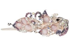 Jual Leegoal Fashion Lucu Kristal Berlian Imitasi Shiny Batu Opal Elegan Wanita Rambut Klip Penjepit Rambut Ungu Internasional Leegoal Asli