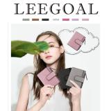 Spesifikasi Leegoal Fashion Women Frosted Buckle Short Wallet Pink Intl Leegoal