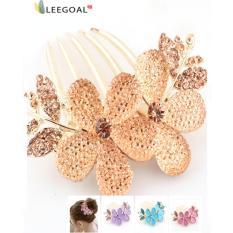 Penawaran Istimewa Leegoal Pesona Fashion Rambut Jepit Rambut Kristal Berlian Imitasi Champagne Internasional Terbaru