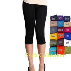 Legging PENDEK  Standar -KAOS- Aneka warna