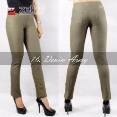 Legging Denim Standar Zetha - Army