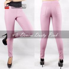 Model Legging Denim Standar Zetha Dusty Pink Terbaru